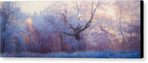 Portraits Canvas Print featuring the painting Wonderland by Jonathan Howe