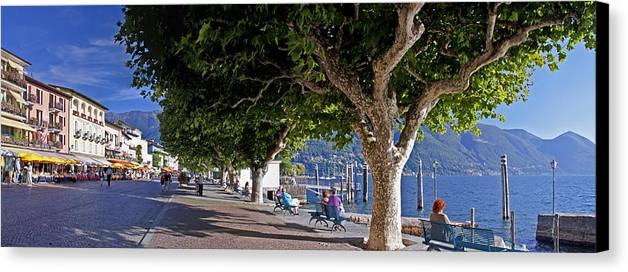 Apartment Canvas Print featuring the photograph Ascona - Ticino by Joana Kruse