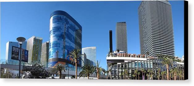 Las Canvas Print featuring the photograph Las Vegas - Cosmopolitan Casino - 12121 by DC Photographer