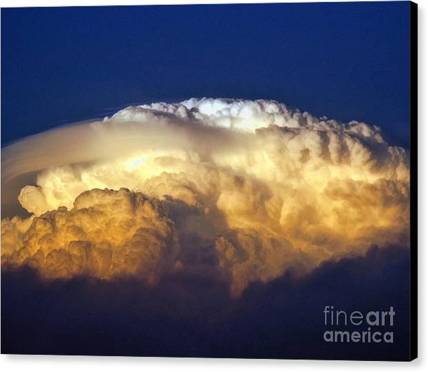 Clouds Canvas Print featuring the photograph Dark Clouds - 3 by Graham Taylor