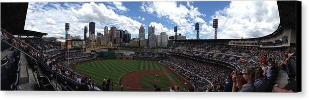 Baseball Parks Canvas Print featuring the photograph Pnc Park by Shelley Johnsen