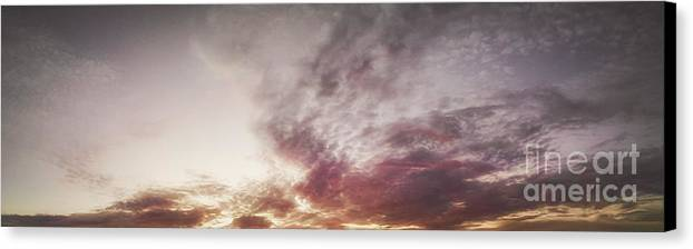 Black & White Canvas Print featuring the photograph Mauve Skies by Holly Martin