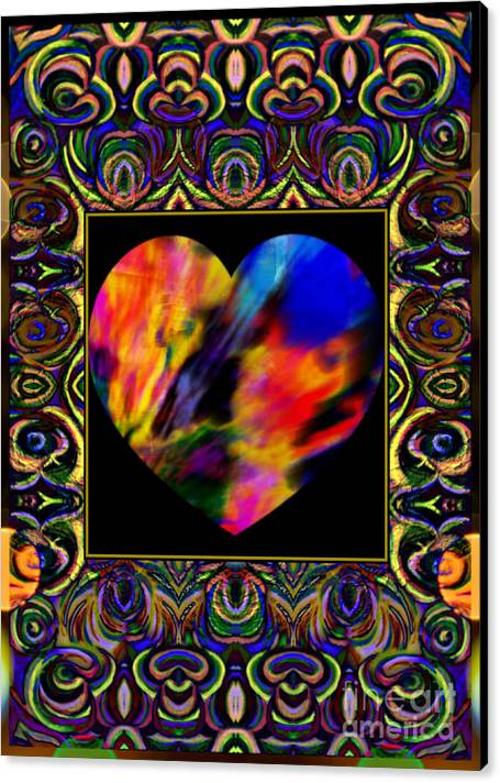 In The Heart Of Carnivale By Wbk Canvas Print featuring the painting In The Heart Of Carnivale by Wbk