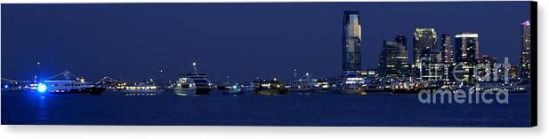 4th Of July Canvas Print featuring the photograph 4th Of July Flotilla On The Hudson by Lilliana Mendez