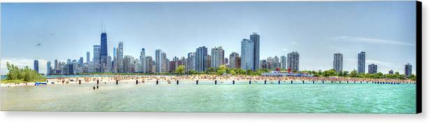 Chicago Canvas Print featuring the photograph Chicago North Avenue Beach by Patrick Warneka
