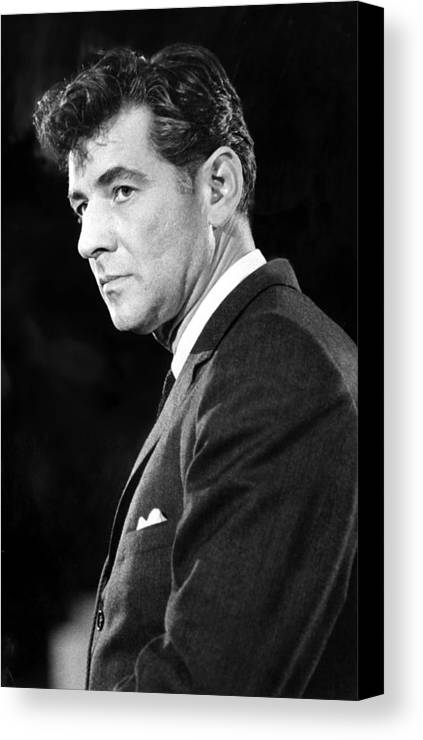 1950s Canvas Print featuring the photograph Leonard Bernstein 1918-1990 American by Everett