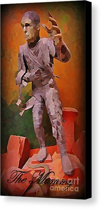 Nightmares Canvas Print featuring the painting The Mummy by John Malone