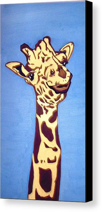 Art Canvas Print featuring the painting Giraffe by Darren Stein
