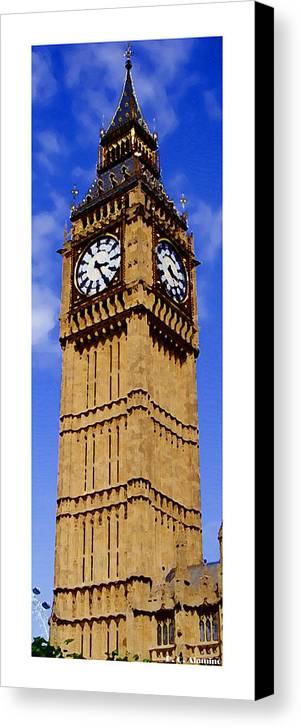London Canvas Print featuring the photograph Citymarks London by Roberto Alamino