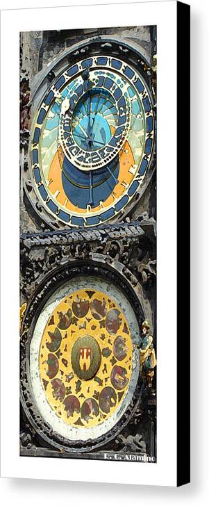 Prague Canvas Print featuring the photograph Citymarks Prague by Roberto Alamino