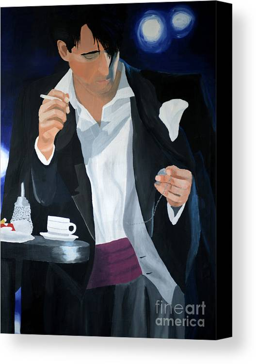 Art Canvas Print featuring the painting Blue Man by Eva-Maria Becker