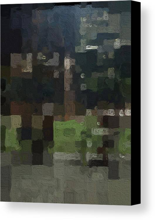Abstract Painting Canvas Print featuring the painting Bryant Park by Linda Woods