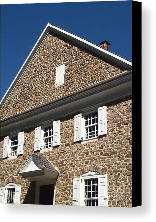 Quaker Meeting Canvas Print featuring the photograph Buckingham Friends Meeting Side View by Anna Lisa Yoder
