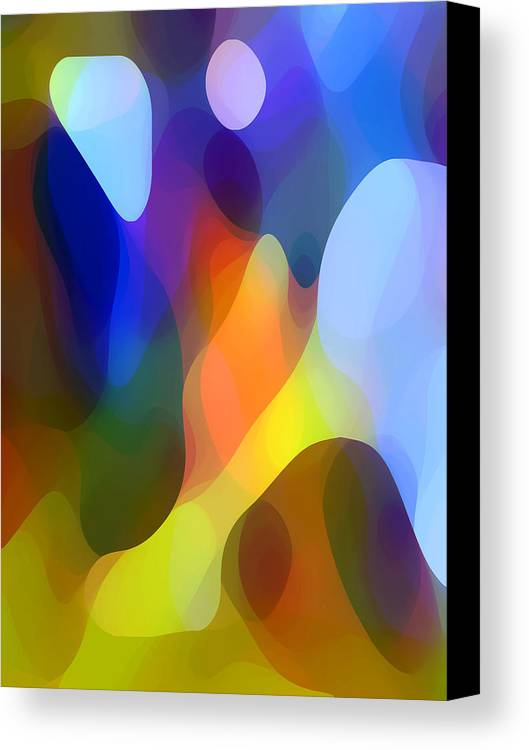 Abstract Art Canvas Print featuring the painting Dappled Light by Amy Vangsgard