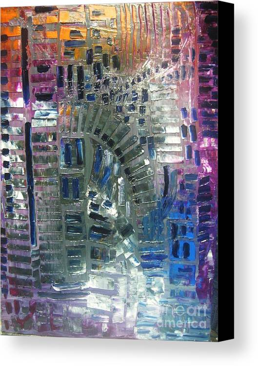 Canvas Print featuring the painting Fracture by Michael Kulick