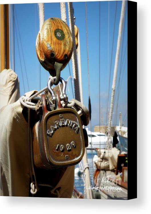 Sailing Canvas Print featuring the photograph Karenita 1929 by Lainie Wrightson