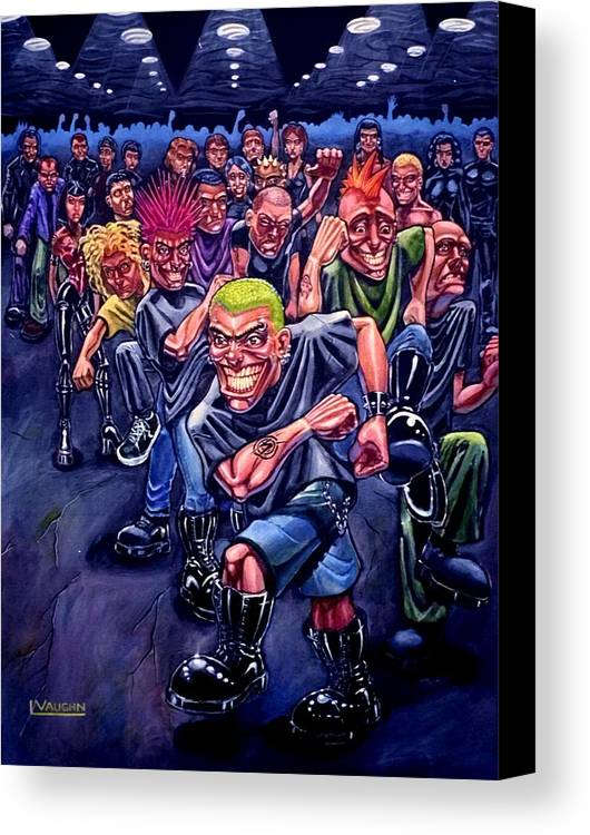 Acrylic Canvas Print featuring the painting The Mosh Pit by Lance Vaughn