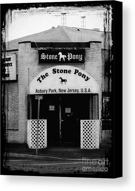 The Stone Pony Canvas Print featuring the photograph The Stone Pony by Colleen Kammerer