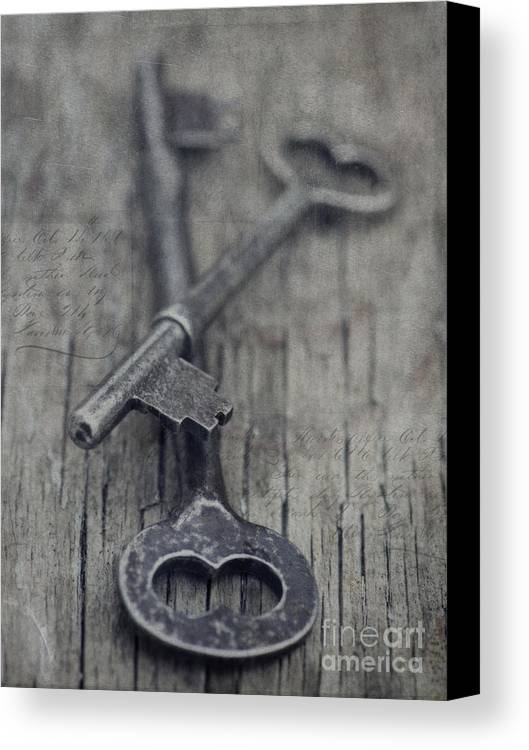 Keys Canvas Print featuring the photograph Vintage Keys by Priska Wettstein