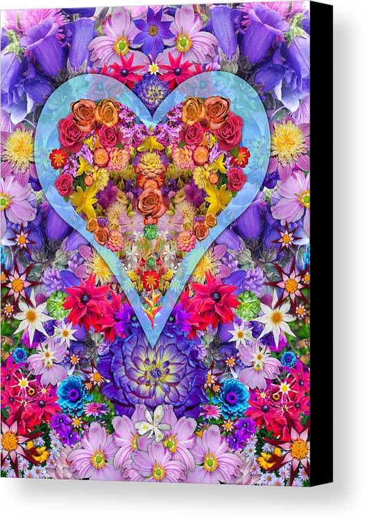 Wild Flower Heart Canvas Print featuring the photograph Wild Flower Heart by Alixandra Mullins
