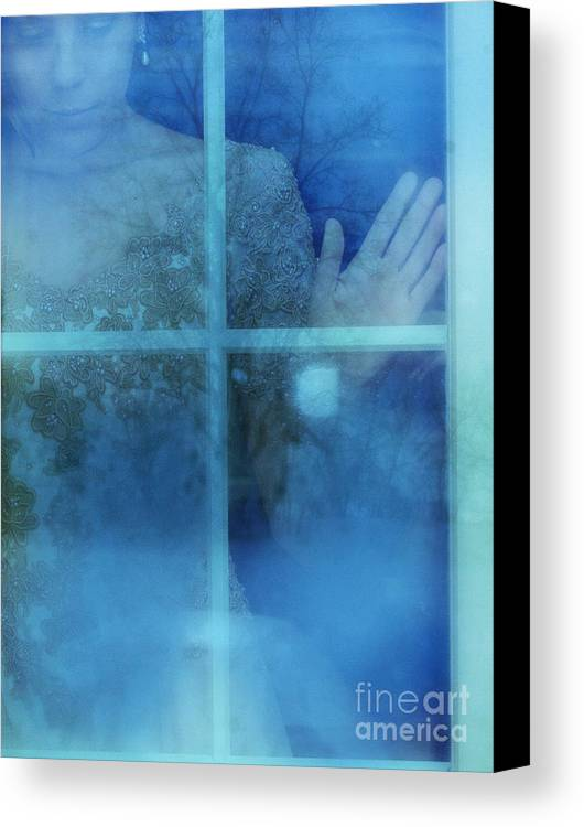 Beautiful Canvas Print featuring the photograph Woman At A Window by Jill Battaglia