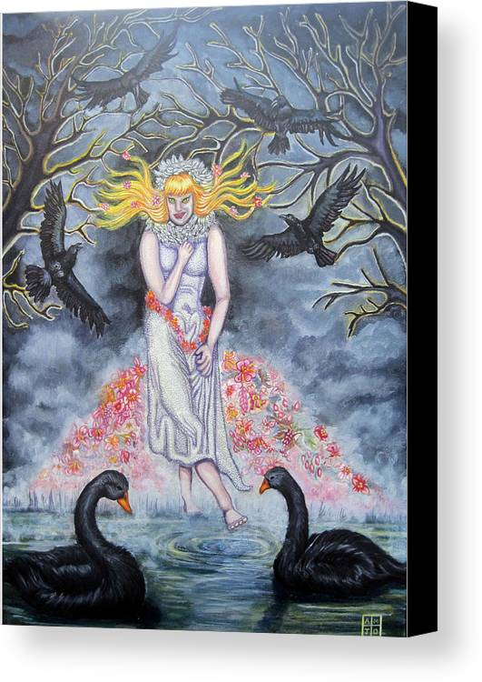 Trees Canvas Print featuring the painting Fair Maiden by Amiee Johnson