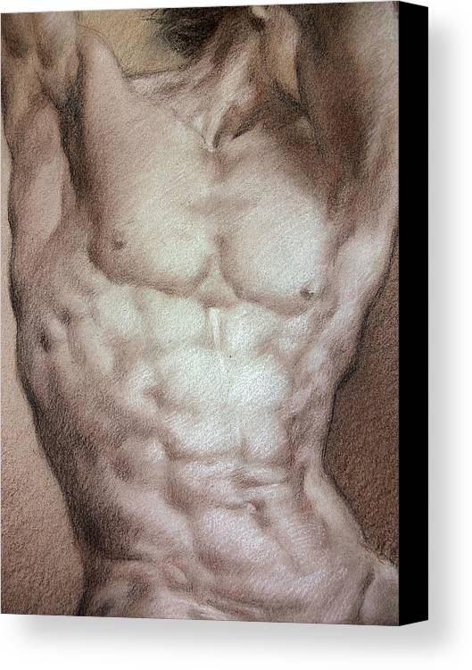 Man Canvas Print featuring the drawing Nude 9 B by Valeriy Mavlo