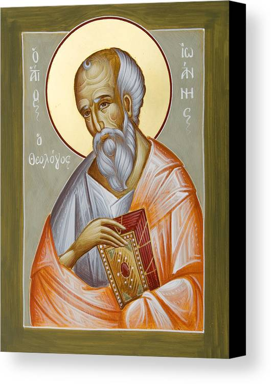 St John The Theologia Canvas Print featuring the painting St John The Theologian by Julia Bridget Hayes
