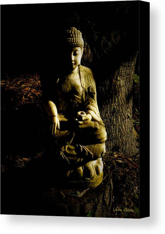 Buddha Canvas Print featuring the photograph Seeing The Light by Sabine Stetson