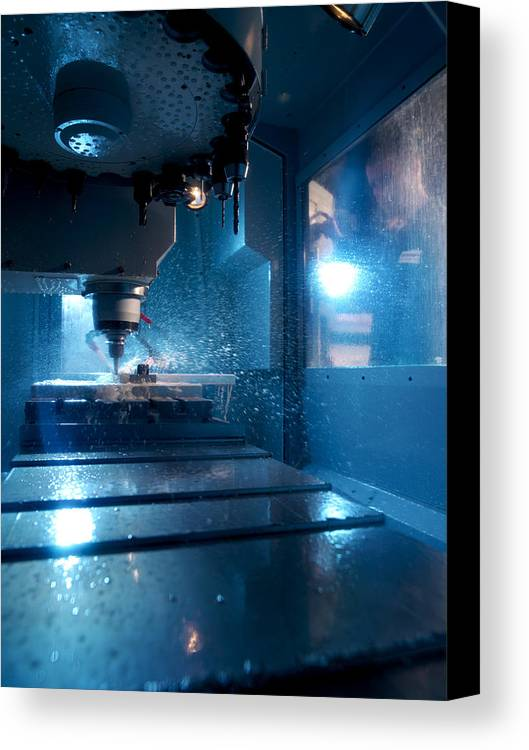 Human Canvas Print featuring the photograph Metalwork by Tek Image