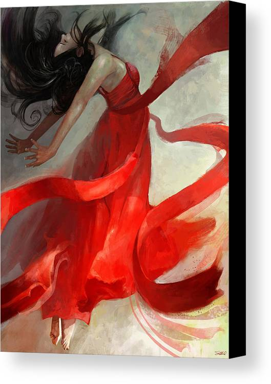 Dancer Canvas Print featuring the painting Ascension by Steve Goad