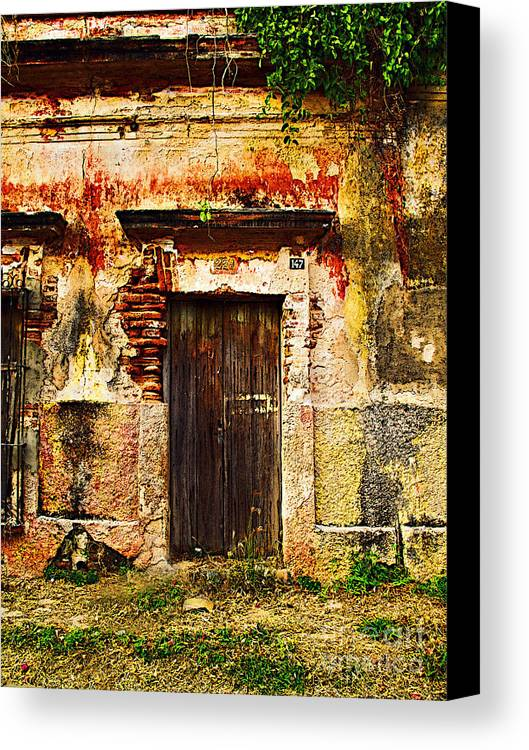 Darian Day Canvas Print featuring the photograph Back Lot By Darian Day by Mexicolors Art Photography