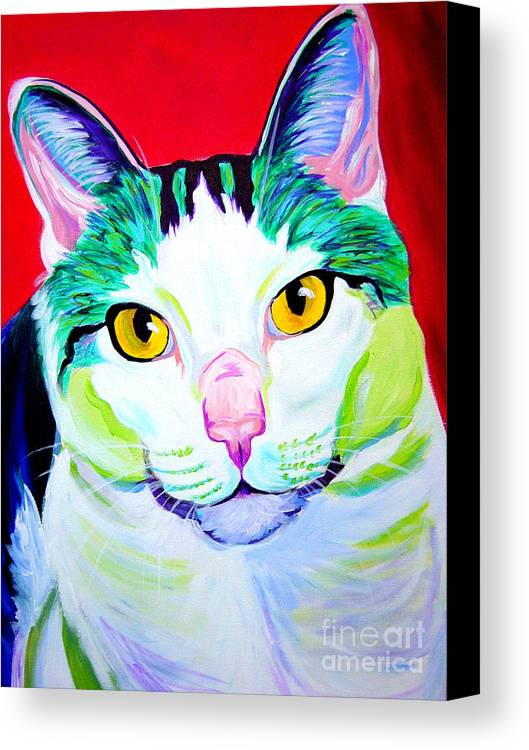 Cat Canvas Print featuring the painting Cat - Zooey by Alicia VanNoy Call
