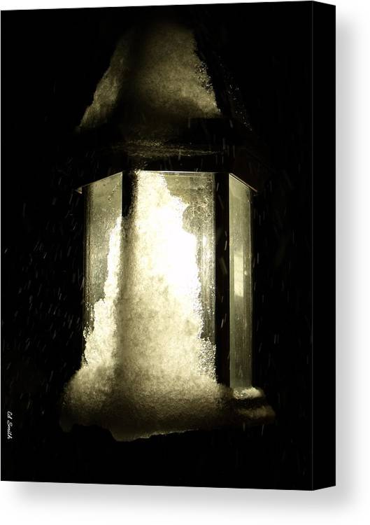 Cold Winter Night Canvas Print featuring the photograph Cold Winter Night by Ed Smith
