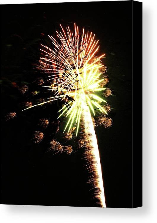 Dunkirk Ny Canvas Print featuring the photograph Fireworks From A Boat - 9 by Jeffrey Peterson
