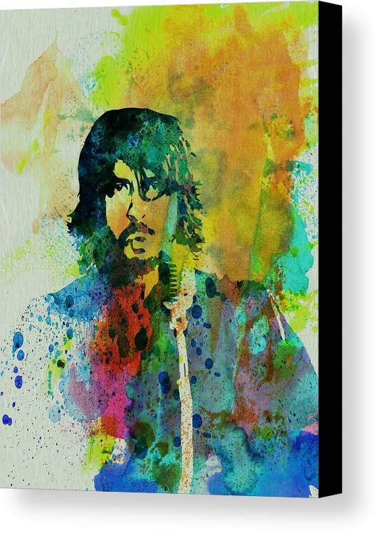 Foo Fighters Canvas Print featuring the painting Foo Fighters by Naxart Studio