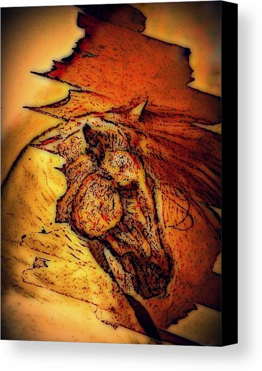 Greek Horse Canvas Print featuring the digital art Greek Horse by Paulo Zerbato
