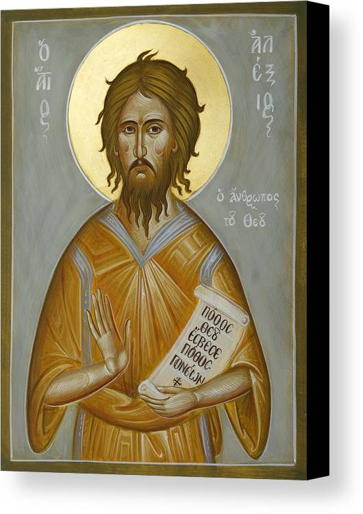 Icon Canvas Print featuring the painting St Alexios The Man Of God by Julia Bridget Hayes
