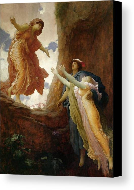 The Return Of Persephone Canvas Print featuring the painting The Return Of Persephone by Frederic Leighton