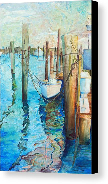 North Carolina Canvas Print featuring the painting Oregon Inlet by Arlissa Vaughn