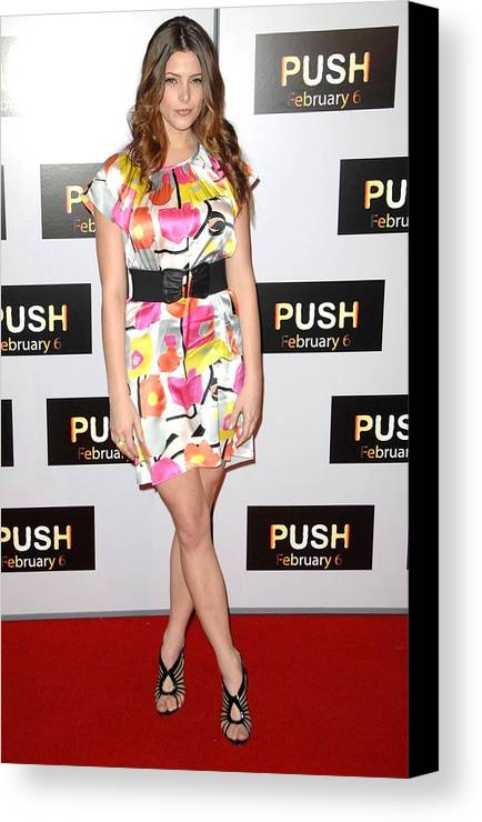 Push Premiere Canvas Print featuring the photograph Ashley Greene At Arrivals For Push by Everett
