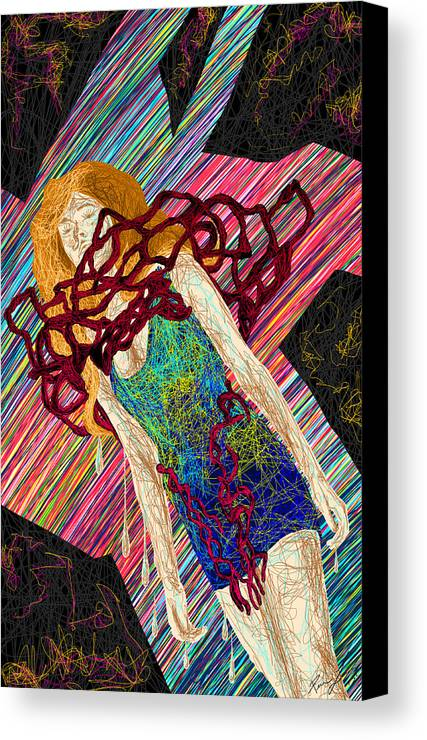 Fashion Abstraction De Dan Richters Canvas Print featuring the painting Fashion Abstraction De Dan Richters by Pierre Louis