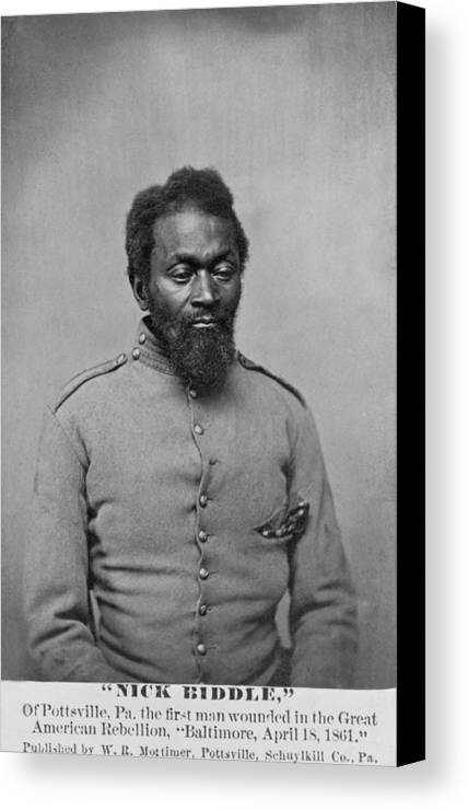 History Canvas Print featuring the photograph Nicholas Biddle, An African American by Everett