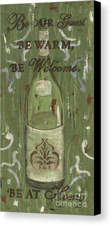 Wine Canvas Print featuring the painting Be Our Guest by Debbie DeWitt