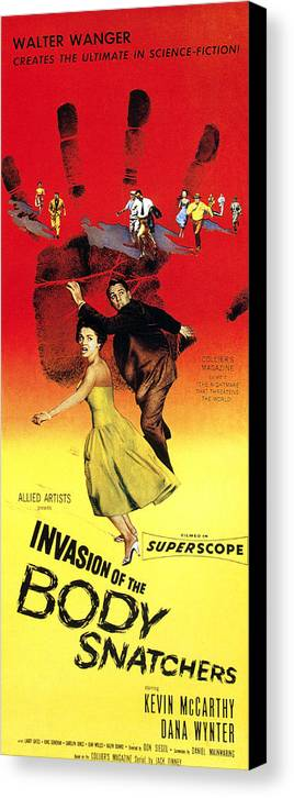 1950s Poster Art Canvas Print featuring the photograph Invasion Of The Body Snatchers, Center by Everett