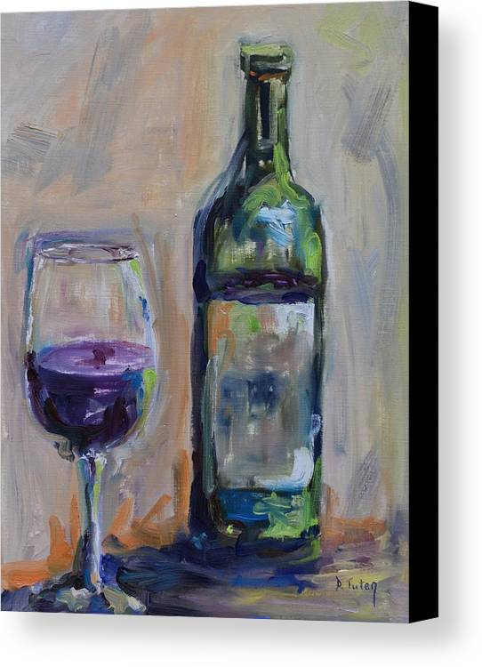 Wine Canvas Print featuring the painting A Good Pour by Donna Tuten