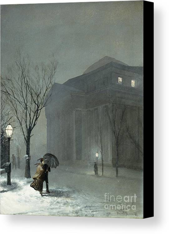 1871 Canvas Print featuring the painting Albany In The Snow by Walter Launt Palmer