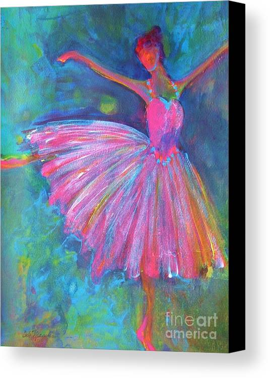 Acrylic Paintings Of Dancers Canvas Print featuring the painting Ballet Bliss by Deb Magelssen
