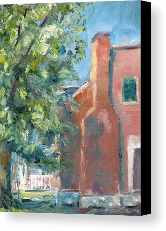Carnton Canvas Print featuring the painting Carnton Plantation On A Spring Morning by Susan E Jones