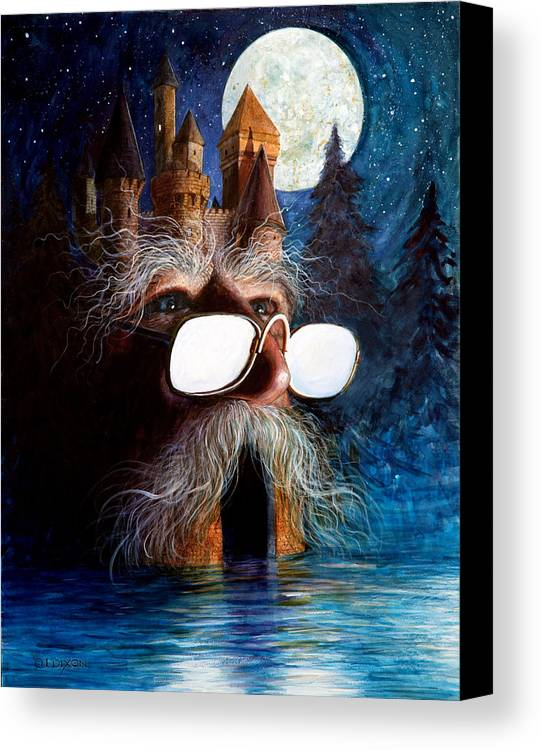 Fantasy Creatures Canvas Print featuring the painting Casolgye by Frank Robert Dixon